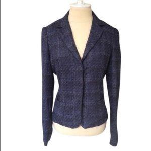 Elie Tahari Side Paneled Tweed Blazer